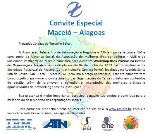 Convite Workshop Maceió