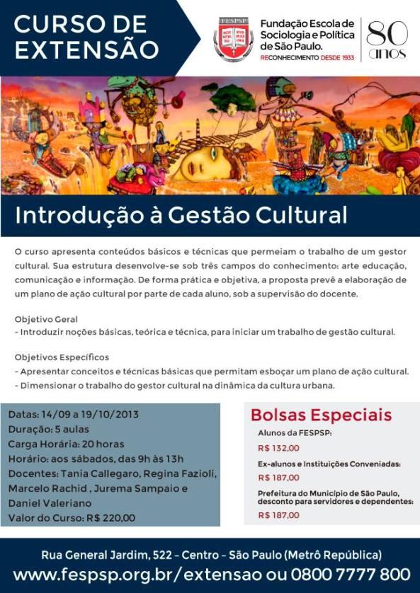 Folder Curso Cultural Fesp