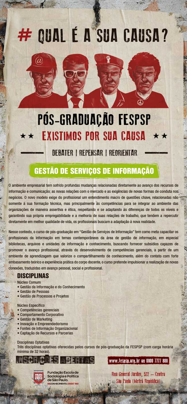 Flyer Pós Graduação Fesp para divulgação