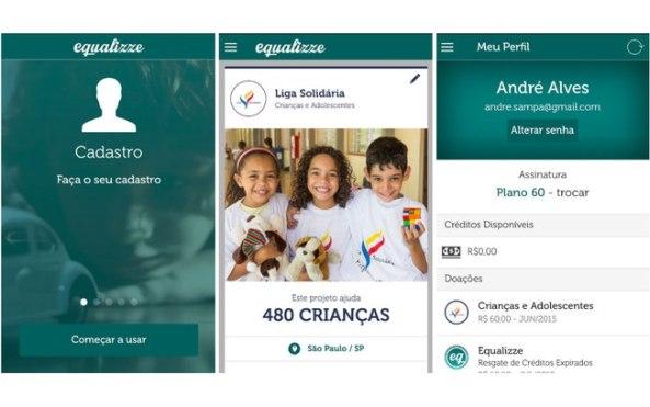 Equalizze_aplicativo para doação