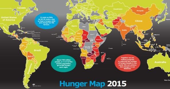 Mapa mundial da fome