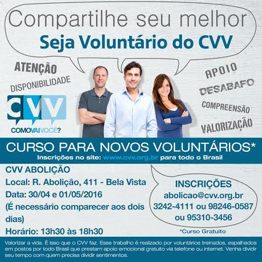 Curso CVV_voluntariado